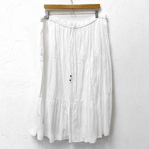White Stag Boho Gypsy Lined White Maxi Skirt XXL